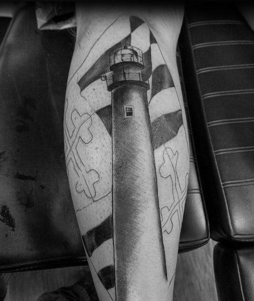 Maryland Flag Themed Tattoo Design Inspiration