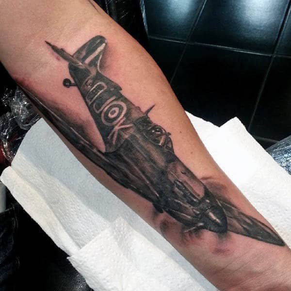 Masculine Airplane Tattoos For Men