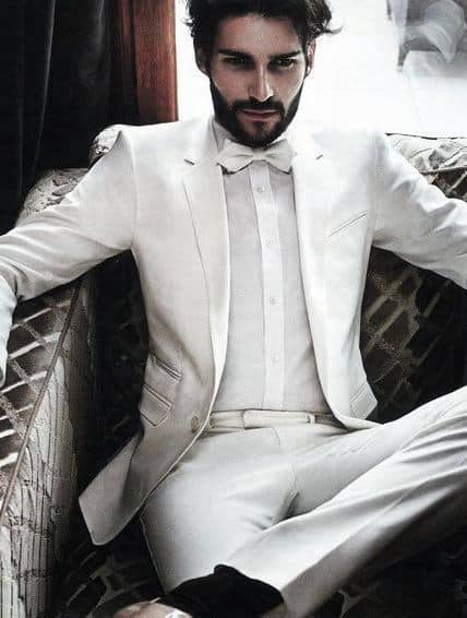 Masculine All White Outfits For Men
