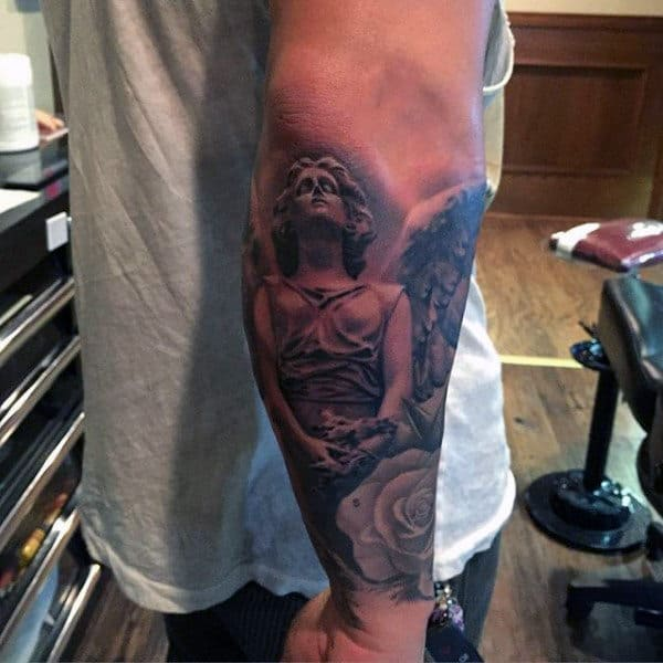 Masculine Angel Tattoos For Men