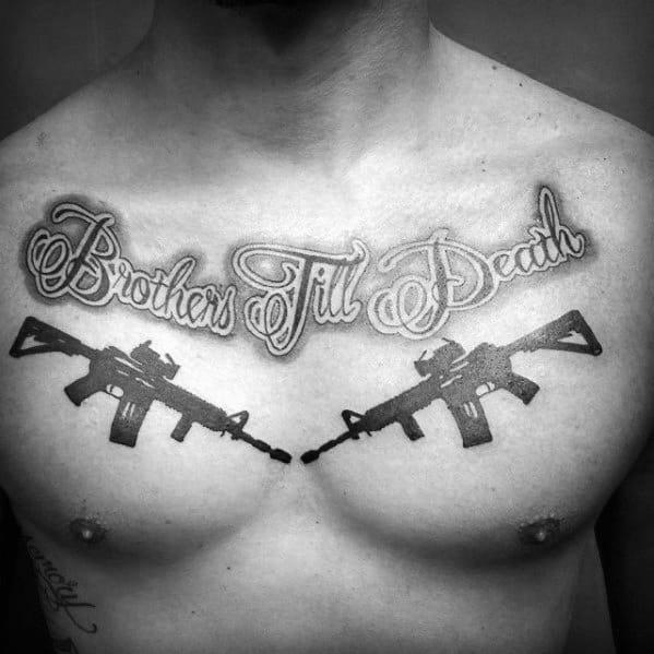 Masculine Ar 15 Tattoos For Men
