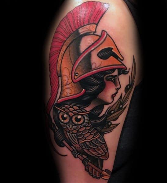 Masculine Athena Tattoos For Men