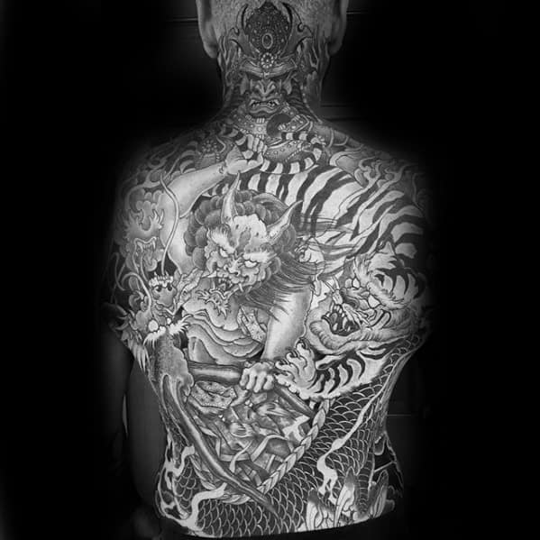 Masculine Awesome Back Tattoos For Men