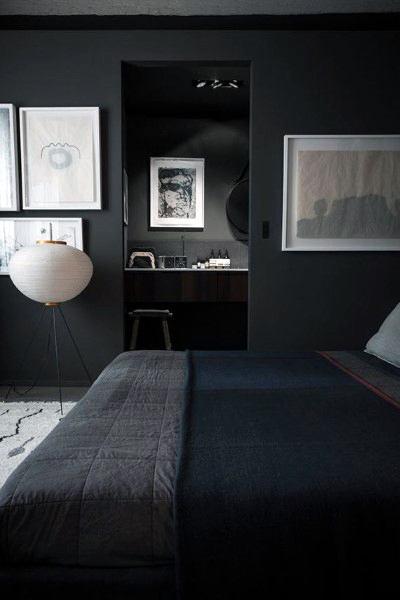 Masculine Bachelor Pad Black Bedroom Designs For Men