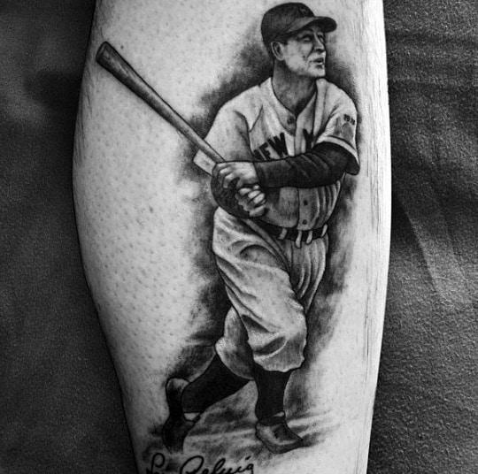Masculine Baseball Player Tattoos