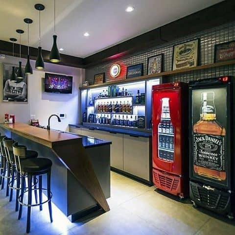 Masculine Basement Man Cave Bar Designs