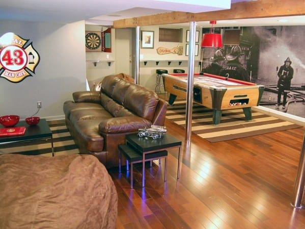 Masculine Basement Man Cave Ideas