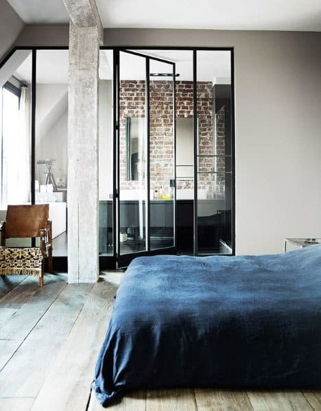 MAsculine Bathroom And Bedroom