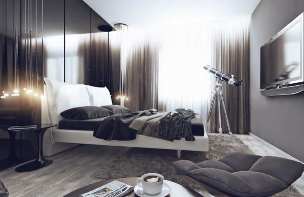 Masculine Bedroom Apartment