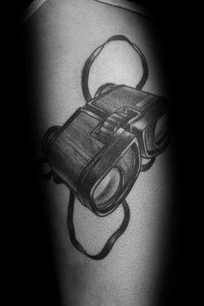 Masculine Binoculars Tattoos For Men On Arm