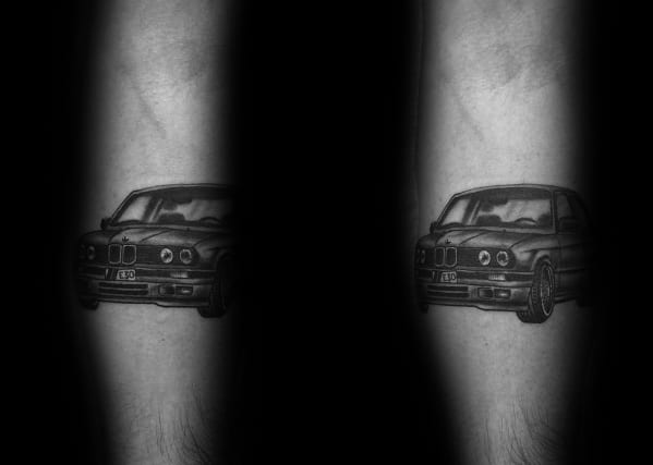 Masculine Bmw Tattoos For Men