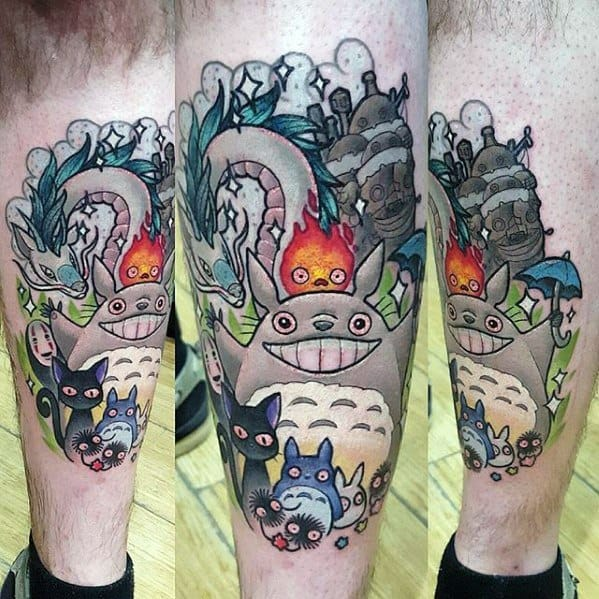 30 Calcifer Tattoo Designs For Men Howl S Moving Castle
