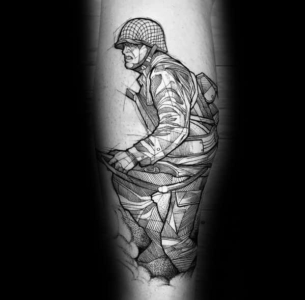 Masculine Call Of Duty Tattoo Designs For Gentlemen