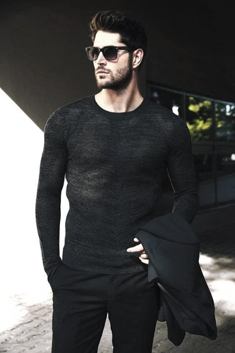 Masculine Casual All Black Outfits For Men
