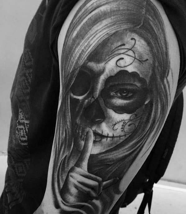 Masculine Catrina Tattoos For Men