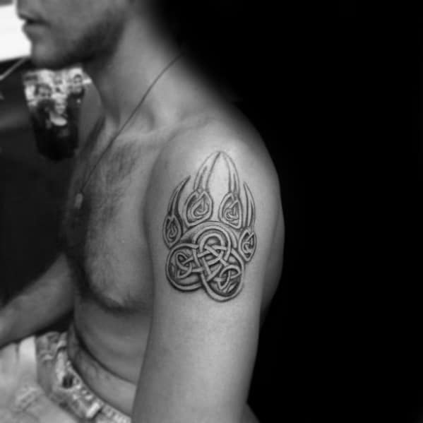 Masculine Celtic Bear Upper Arm Mens Knot Tattoo Designs