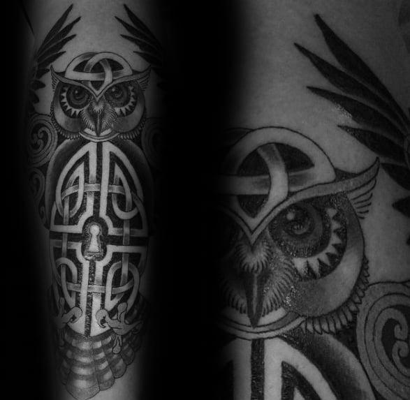 tribal inner forearm tattoo