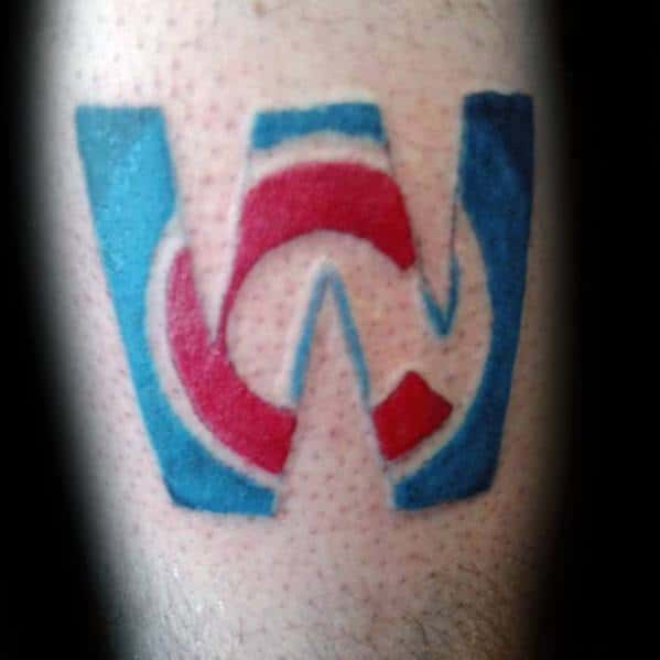 Masculine Chicago Cubs Tattoos For Men On Forearm