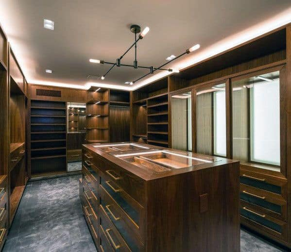 Masculine Closet Lighting Design Ideas
