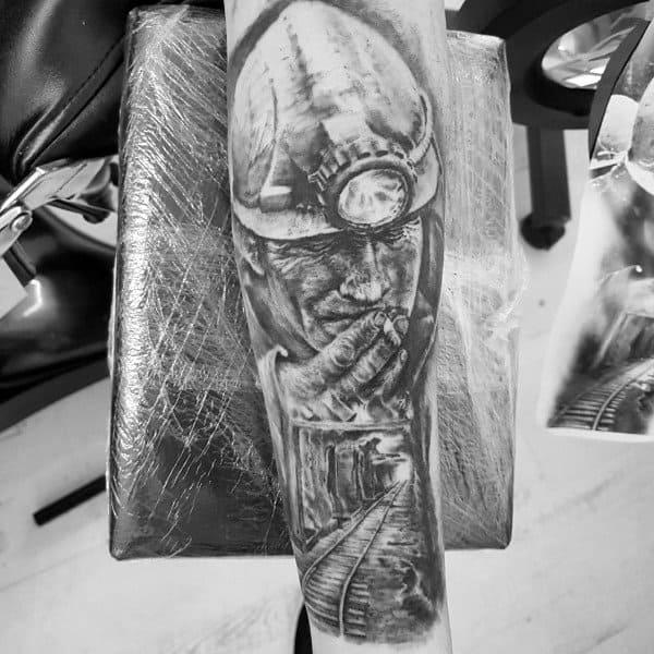 Masculine Coal Mining Tattoos For Men