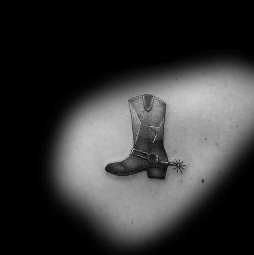 Masculine Cowboy Boot Tattoos For Men