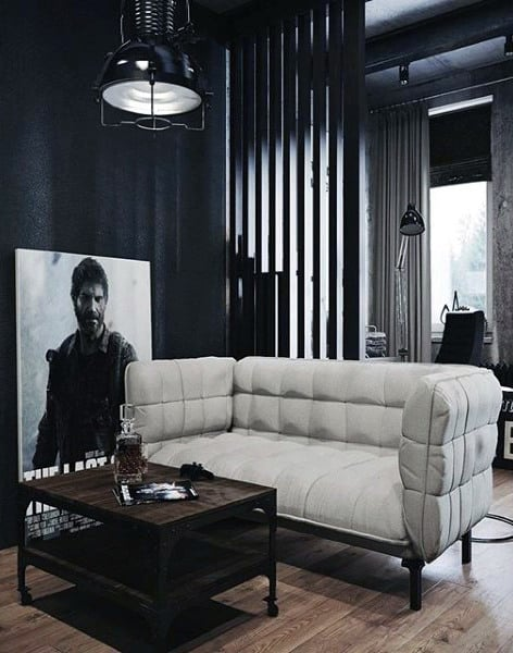 100 Bachelor Pad Living Room Ideas For Men - Masculine Designs