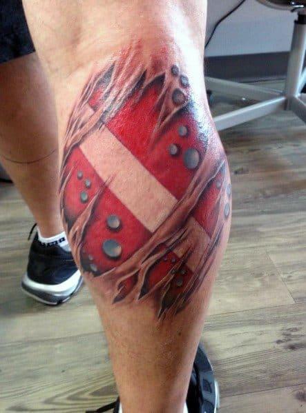 Masculine Dive Flag Tattoos For Men