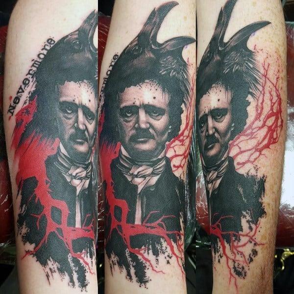 Masculine Edgar Allan Poe Tattoos For Men