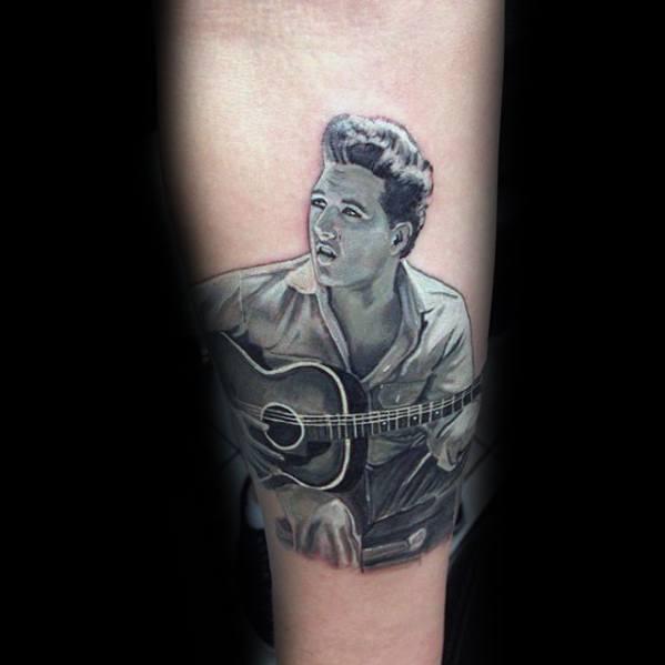 Masculine Elvis Presley Tattoos For Men