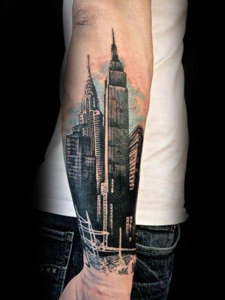 Masculine Empire State Building Tattoos For Men