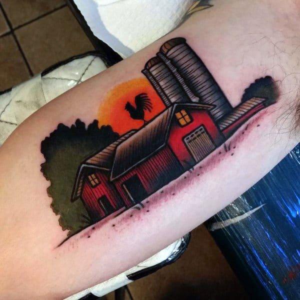 Masculine Farming Tattoos For Men