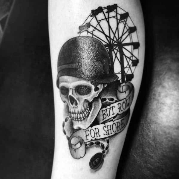 Masculine Ferris Wheel Tattoos For Men
