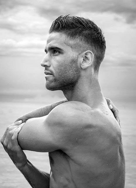 Masculine Fohawk Mens Low Fade Hair Inspiration