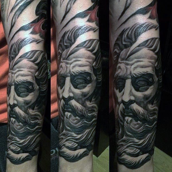 Masculine Forearm Half Sleeve Tattoos For Men