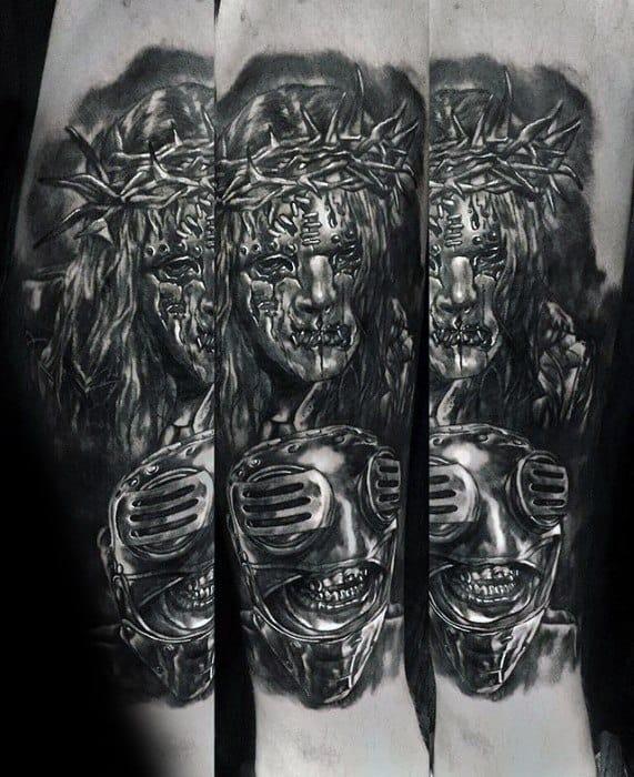 Masculine Forearm Slipknot Tattoos For Men