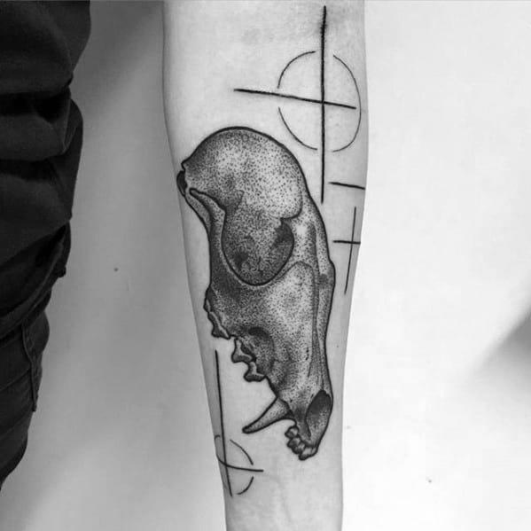 Masculine Fox Skull Tattoos For Men
