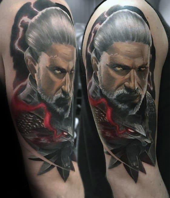 Masculine Gamer Arm Tattoos For Men