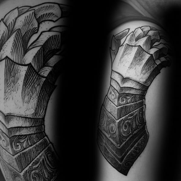 Masculine Gauntlet Tattoos For Men