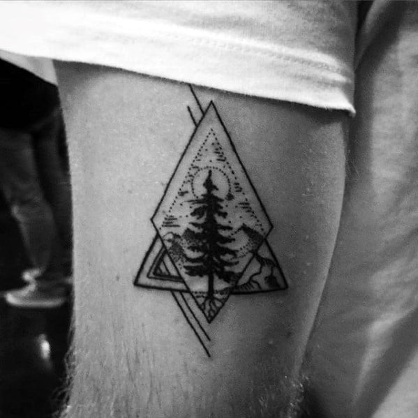 Christmas Tree Tattoo Designs.60 Small Tree Tattoos For Men Masculine Design Ideas