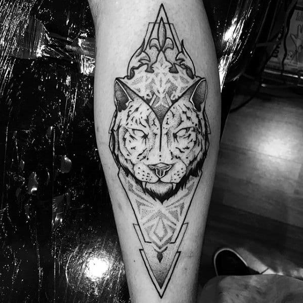 Masculine Geometric Tiger Tattoos For Men