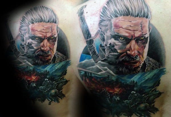 Masculine Geralt Tattoos For Men