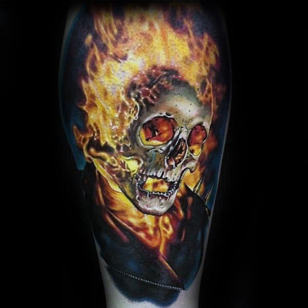 Masculine Ghost Rider Tattoos For Men