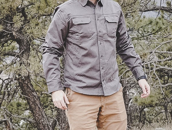 Masculine Grey Long Sleeve Mens Holt Work Shirt United By Blue Review