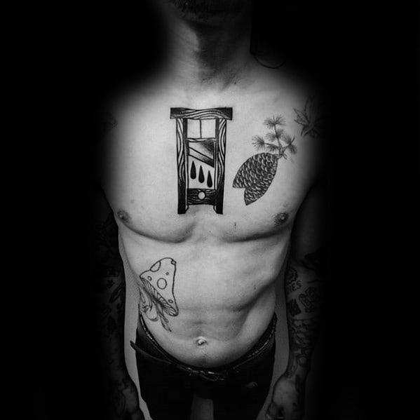 Masculine Guillotine Tattoos For Men