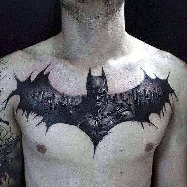 50 Batman Symbol Tattoo Designs For Men - Superhero Ink Ideas