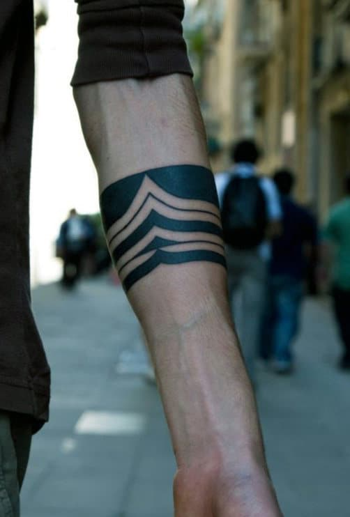 Masculine Guys Black Band Tattoo Ideas