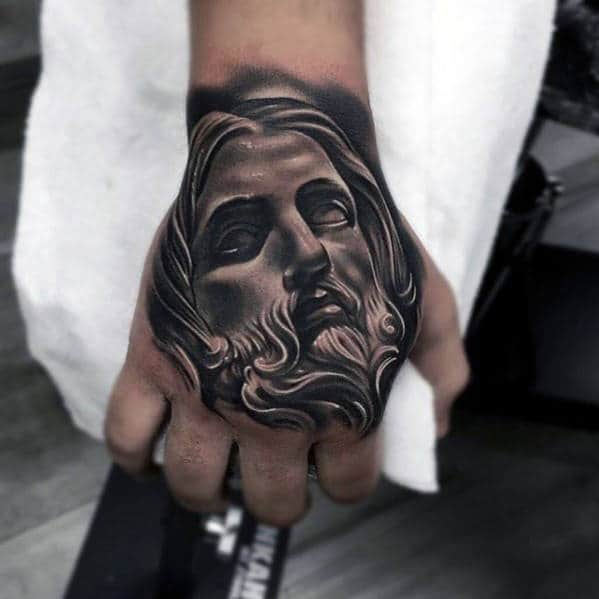 Tattoo Designs For Men Hand: 20 Jesus Hand Tattoo Designs For Men