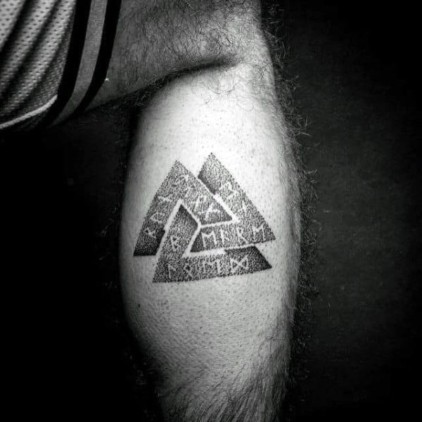 Maskuline Jungs Rune Dotwork Norse Valknut Bein Tattoo Designs