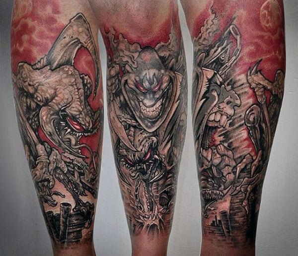 40 spawn tattoo designs for men antihero ink ideas. Black Bedroom Furniture Sets. Home Design Ideas