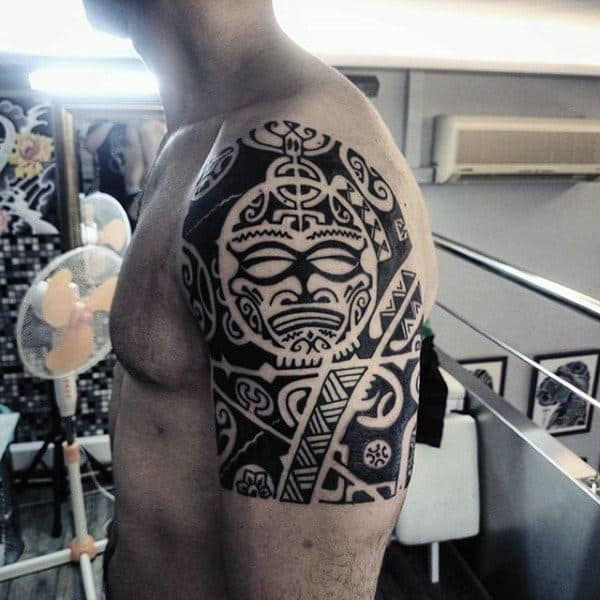 Masculine Guys Tribal Tattoos For Arm Hawaiian